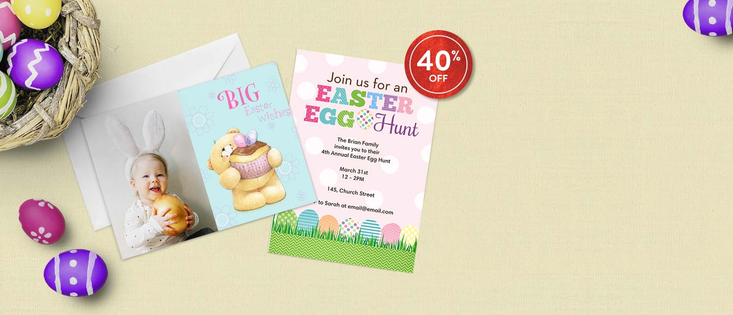 Hop to it! : All cards are now 40% off.Use code EGG318 by 25/3.