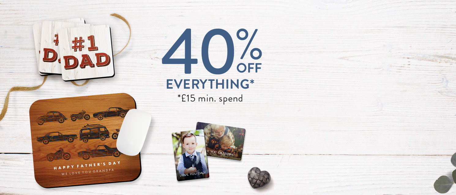 Just for Dad : Treat Dad like a king this Father's Day with 40% off everything*.Use code DAD518 by 28/5.