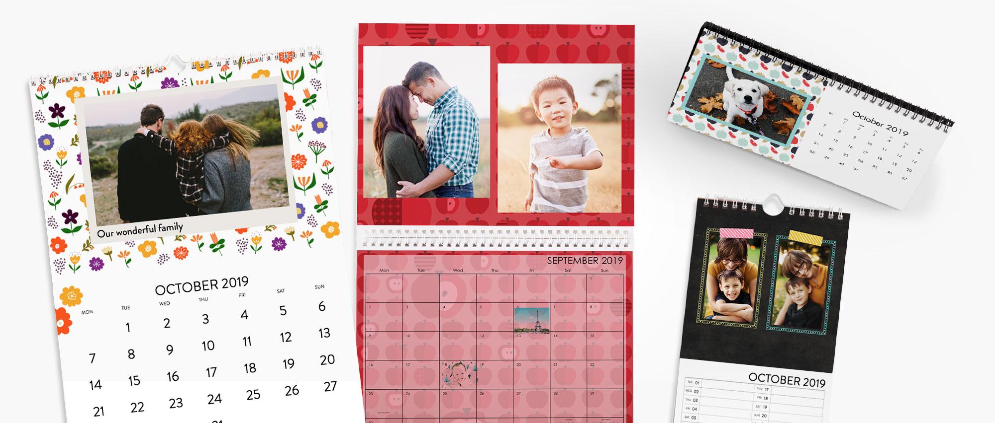 Calendar Self Made : Photo calendar personalised desk wall calendars