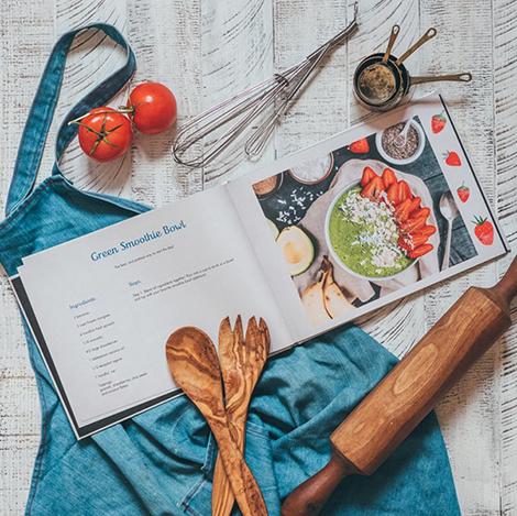 Make a personalised recipe book