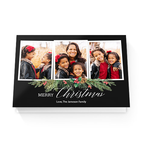Garland Frame Christmas Greeting