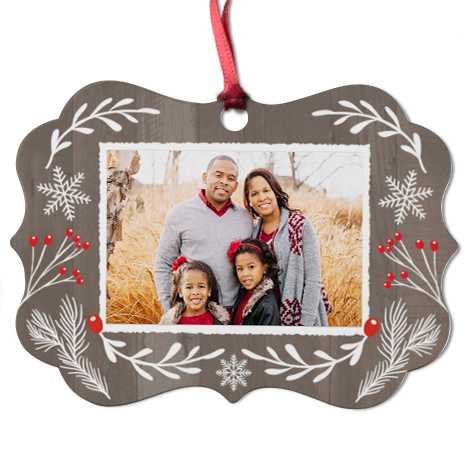 Aluminium Medallion Christmas Ornament
