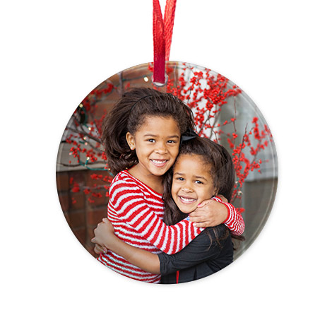 Round Acrylic Christmas Ornament