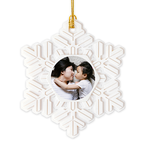 Icon Snowflake Christmas Ornament