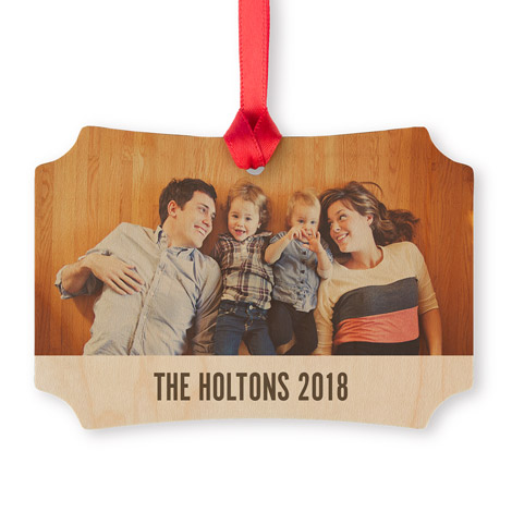 Icon Maple Scalloped Photo Ornament
