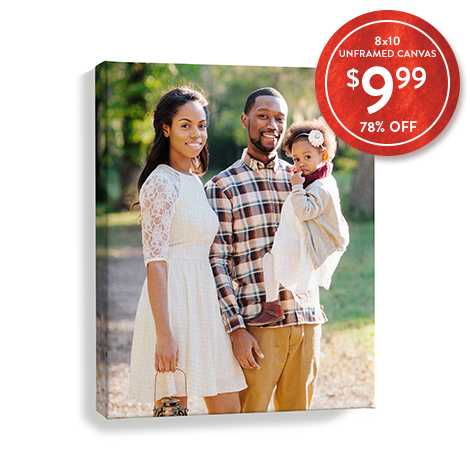 78% off 8x10 Canvas Prints