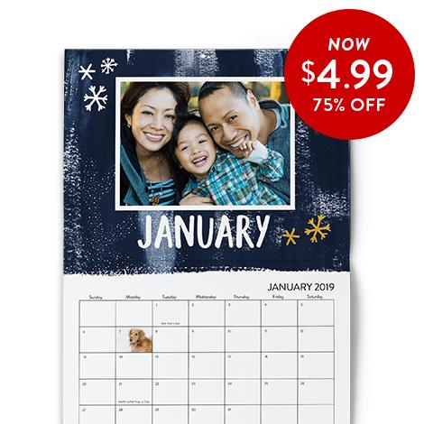 75% off 8x11 Wall Calendars