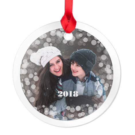 Icon Glass Round Photo Ornament