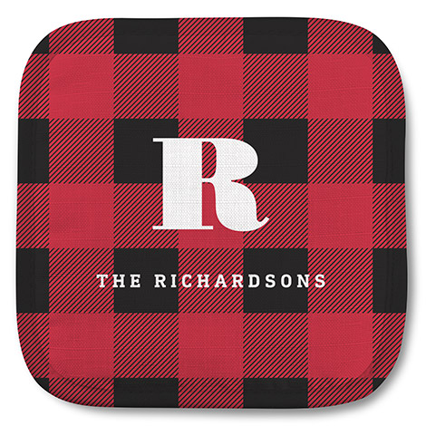 Buffalo Plaid Monogram
