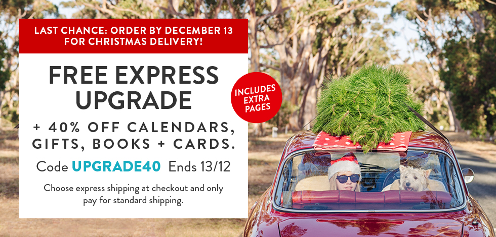 Free Express Upgrade + 40% off selected categories