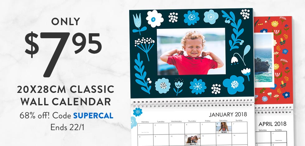 20x28cm Classic Wall Calendar