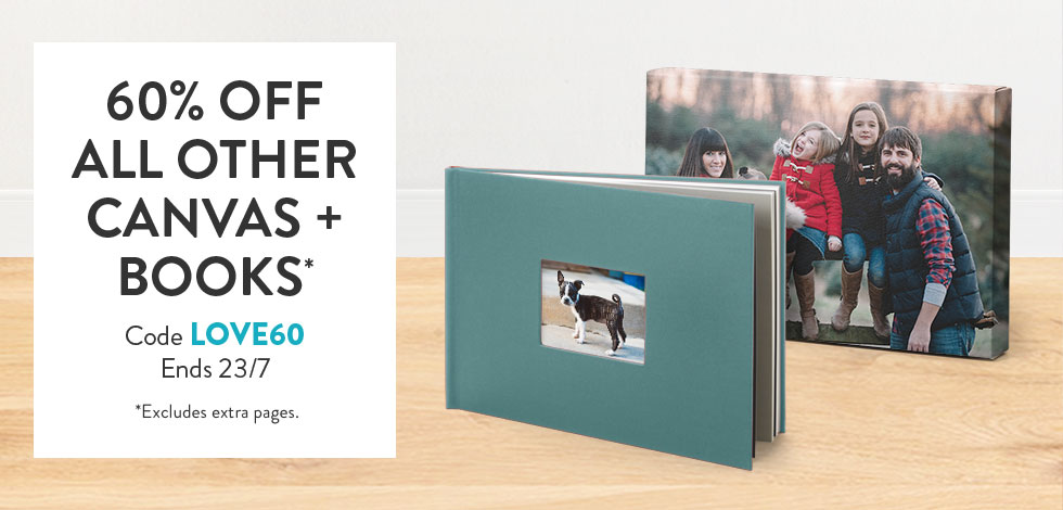 60% off all other Canvas and Books*