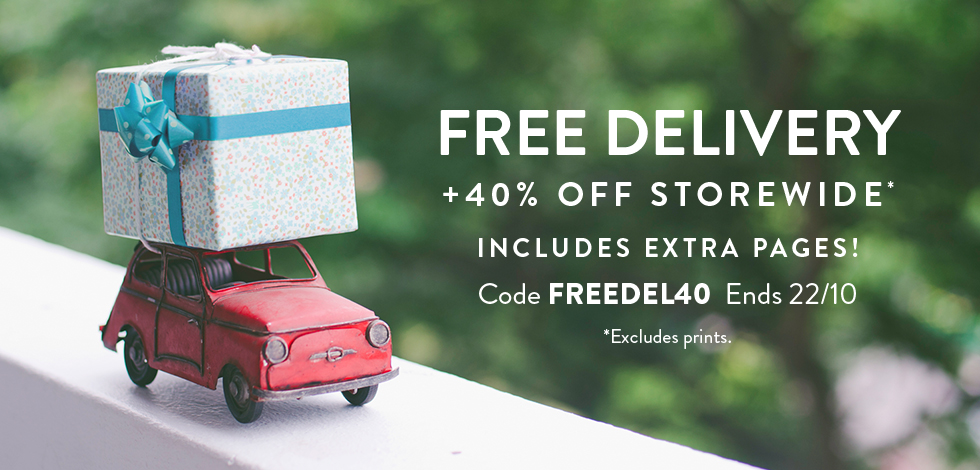 40% off storewide* + Free delivery (*excludes prints)