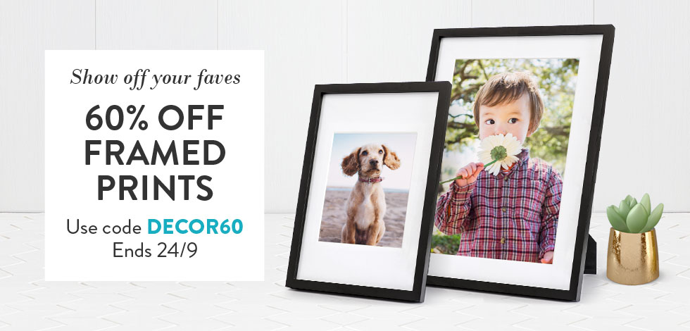 60% off Framed Prints