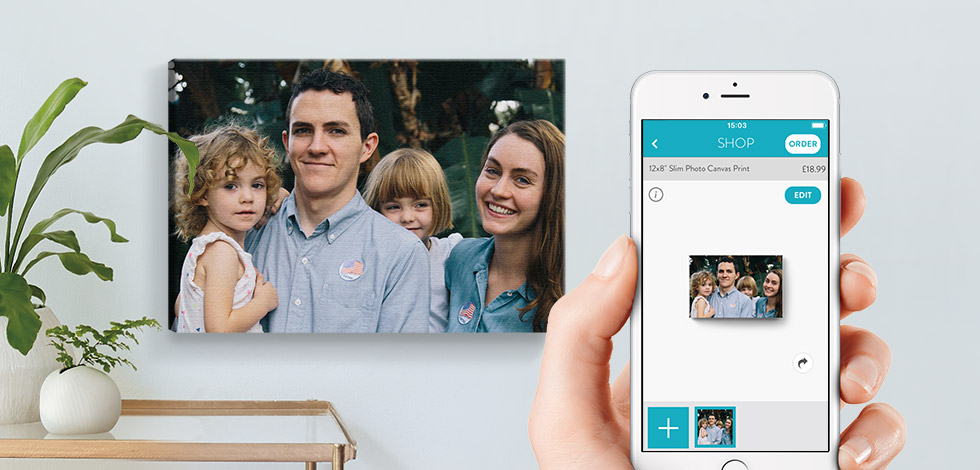 Shop and create canvas prints on the snapfish app
