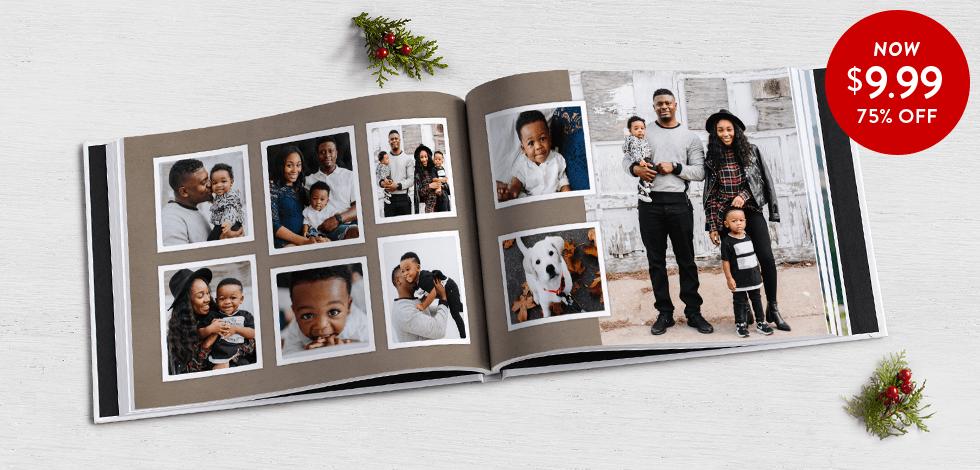75% off 8x11 Hardcover Photo Books