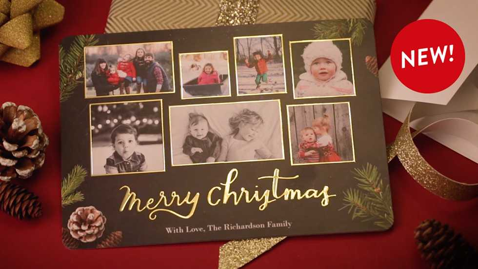 meet our new foil cards - How To Sign A Christmas Card