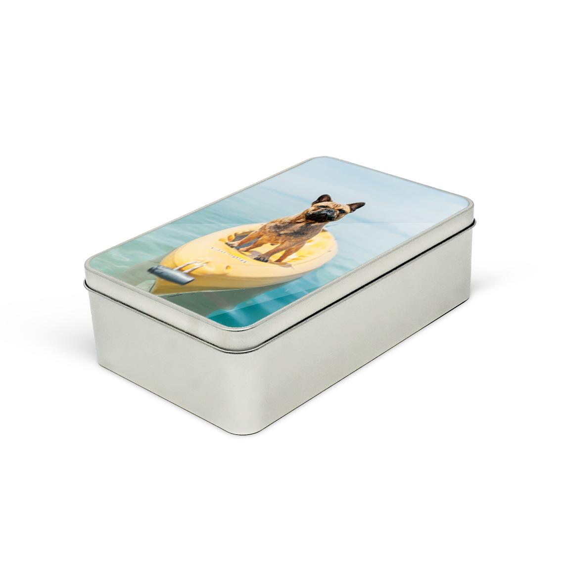 Personalised tins rectangular
