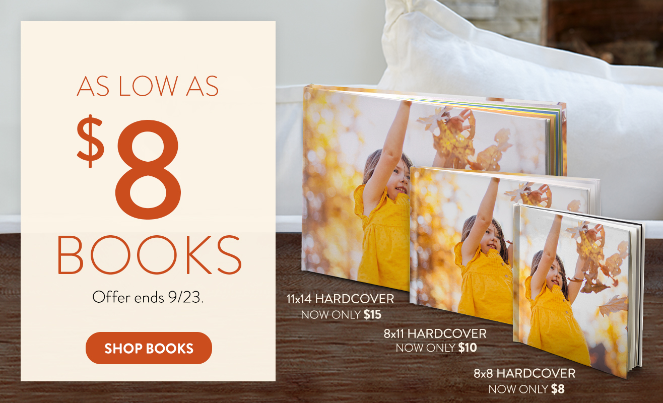 Get Photo Books for as low as $8