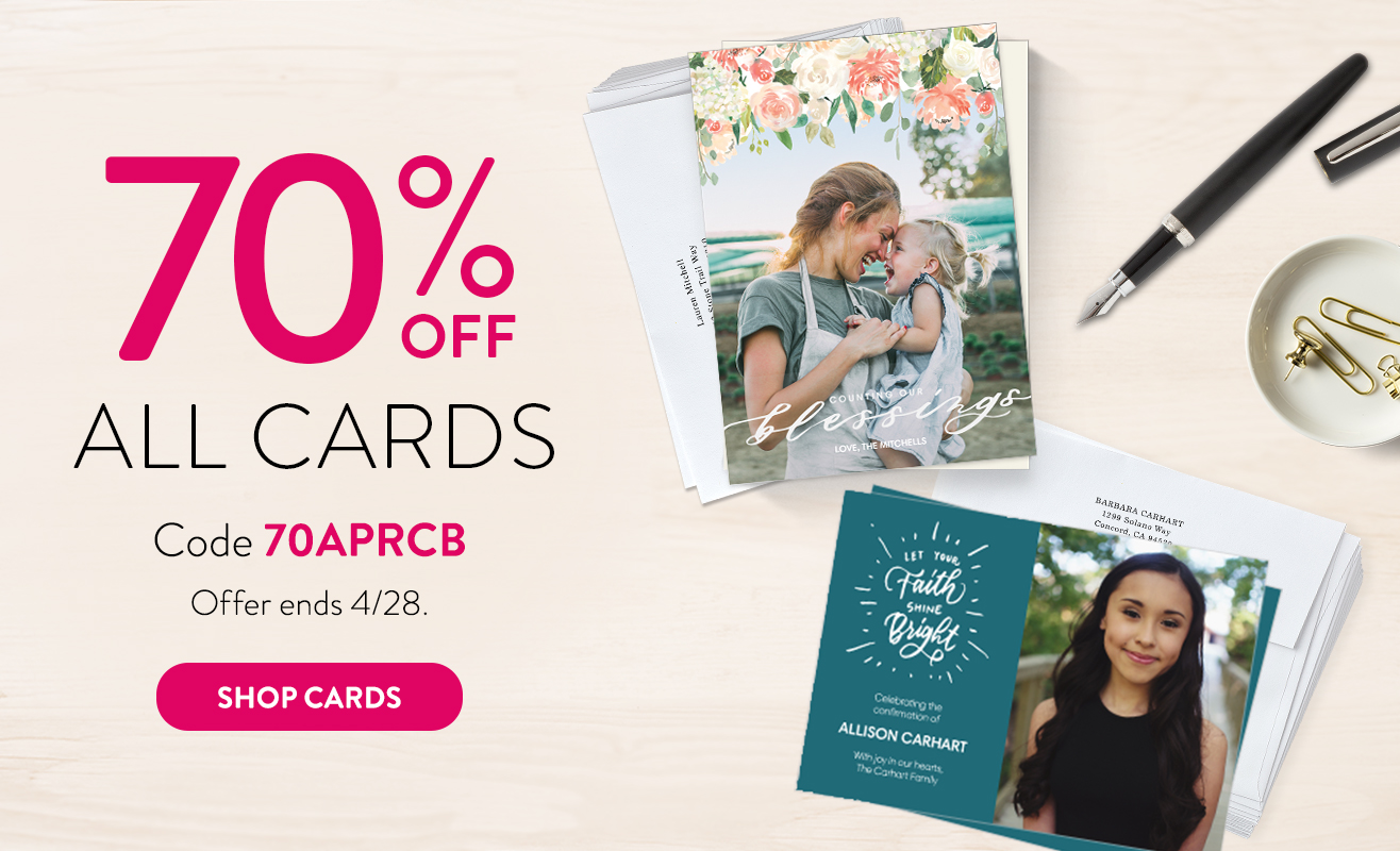70% off all cards