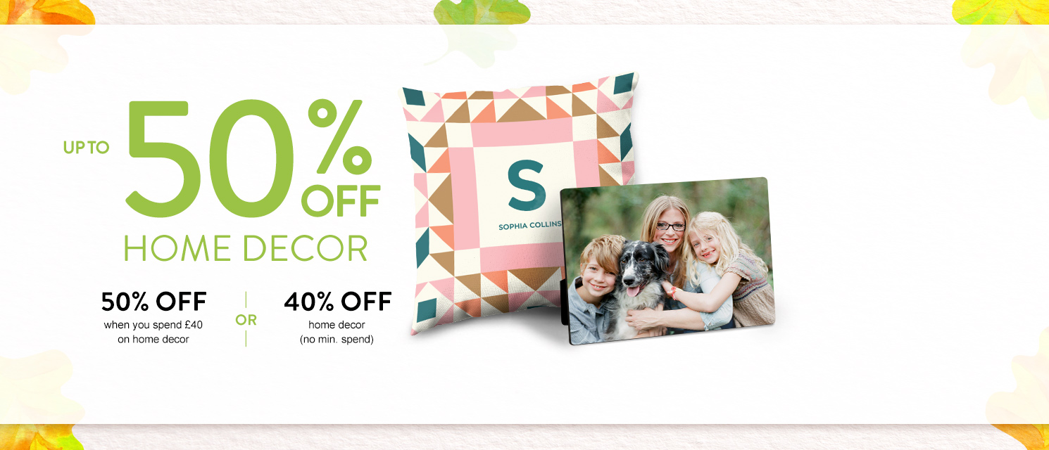 Up to 50% off Canvas Prints and Home Decor!