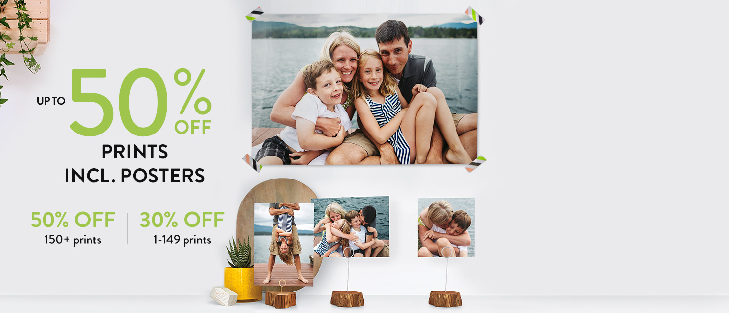 Up to 50% off Photo Prints!