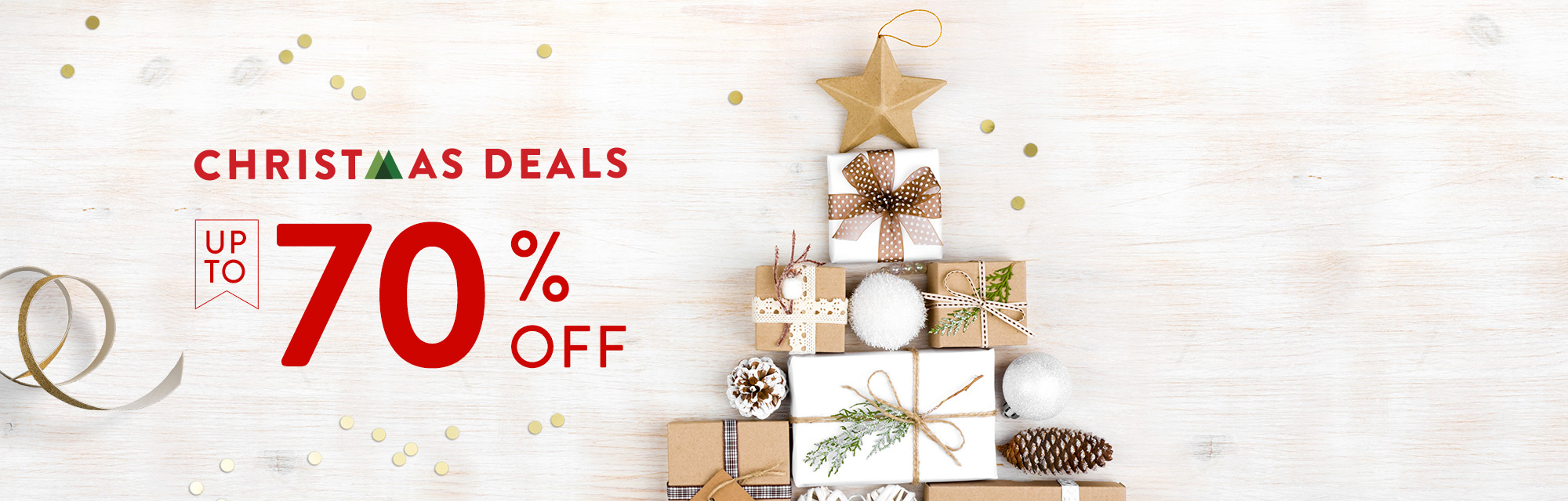 Christmas Deals - Up to 70% off!