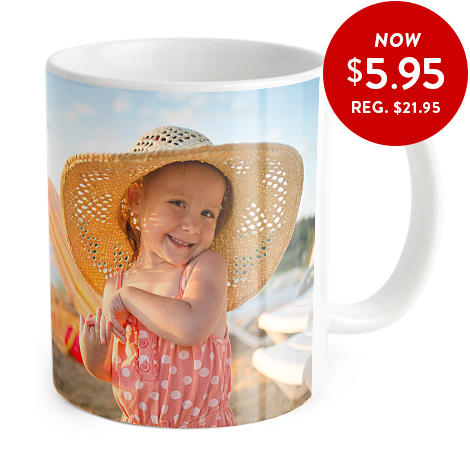 Coffee mug with full wrap photo image