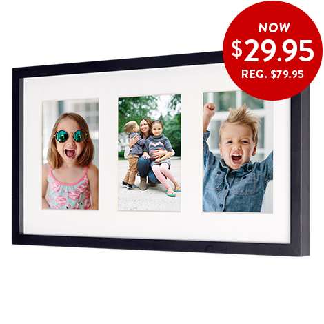 3-in-1 framed print. Now only 24.95. Use code 3IN1FRAME