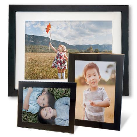 Framed print of family
