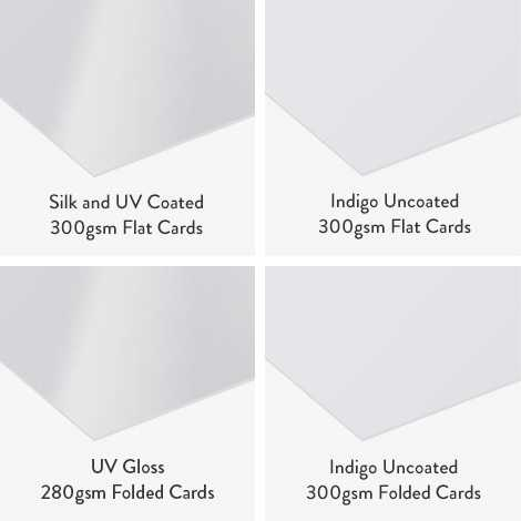 We use high quality card stock of up to 300gsm to ensure the a quality finish.