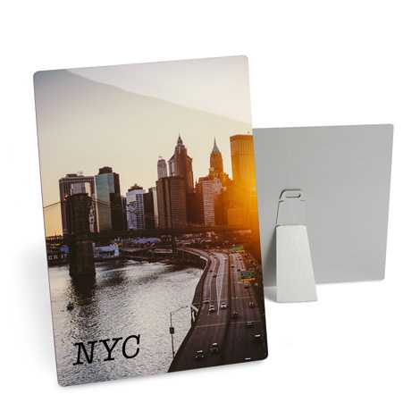 Home Décor metal print of NYC