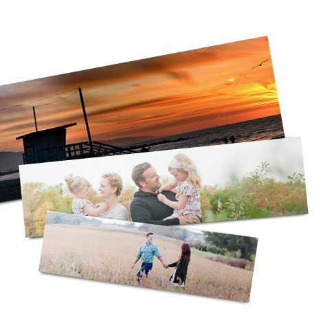 Panoramic print of family and nature