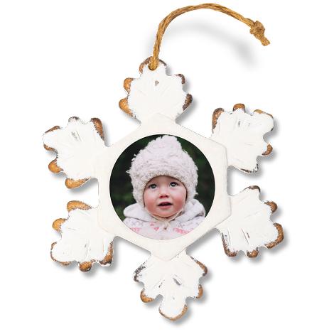 Icon Rustic Snowflake Ornament