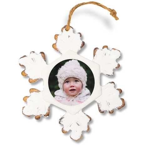 Icon Rustic Snowflake Ornament