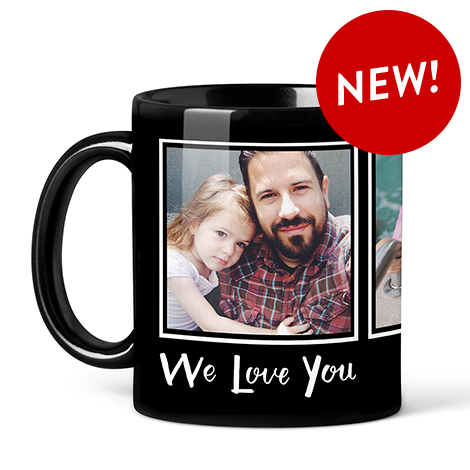 11oz. BLACK PHOTO COFFEE MUG