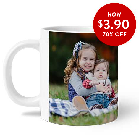 70% off 11oz. Photo Coffee Mugs