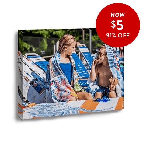 91% off 11x14 Canvas Prints