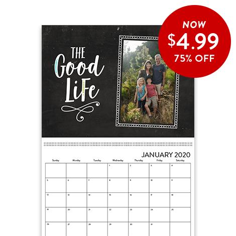 75% off 8.5x11 Wall Calendars