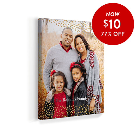 77% off 8x10 Canvas Prints