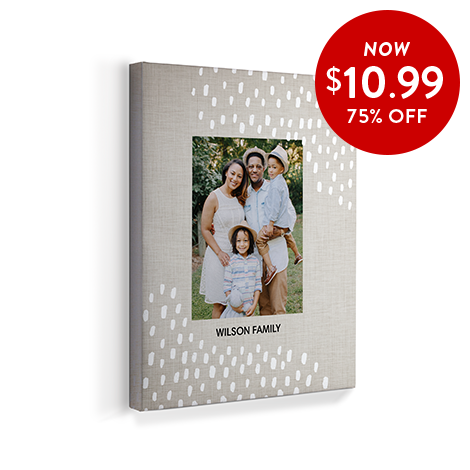75% off 8x10 Canvas Prints