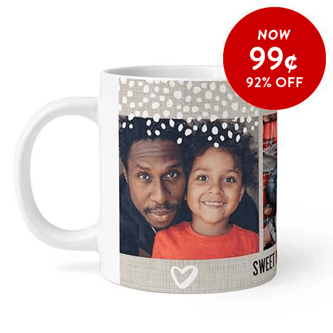 92% off 11oz. Photo Coffee Mugs