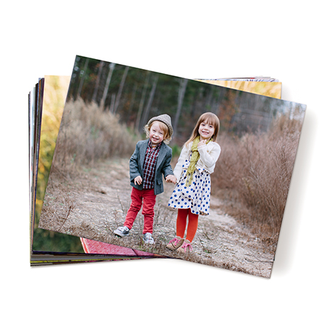 Print of kids on a woodland path