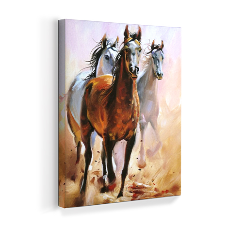 Horse Equistrian Oil Painting Print