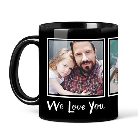 Photo Coffee Mugs, 11oz, Black