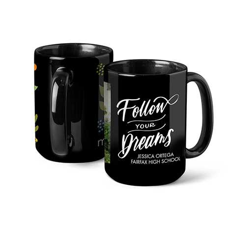 Photo Coffee Mug, 15oz, Black
