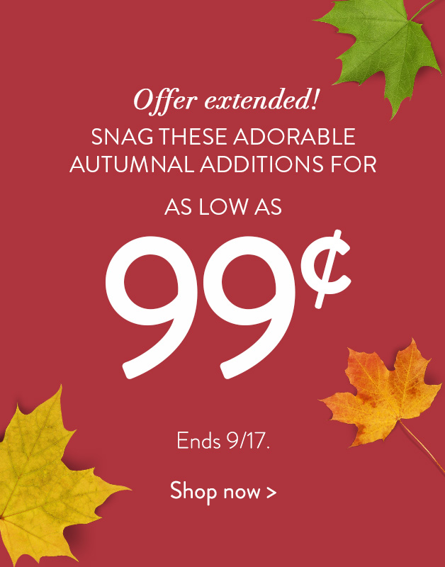 Get select gifts for as low as 99cents