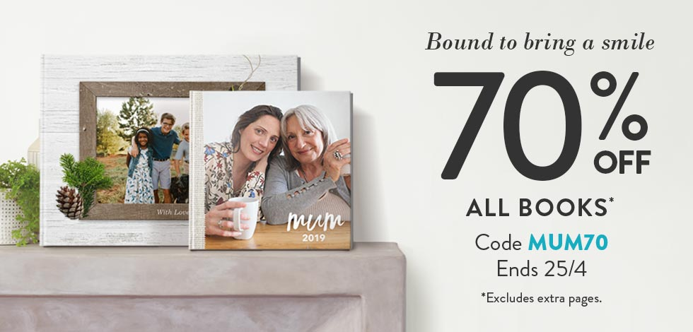 70% off all Photo Books*