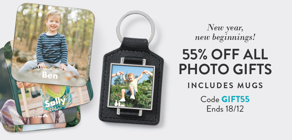 55% off all Mugs and Photo Gifts