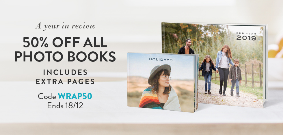 50% off all Photo Books